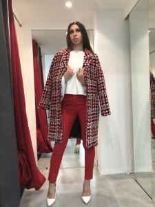 Cappotto donna in  tricot di lana colorato, foderato   TG S,M, L