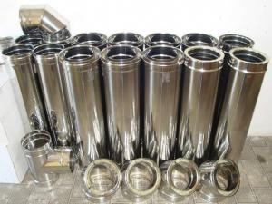 TUBI PERCANNE FUMARIE DIAMETRI mm 80/100/120/130/150/200/250 cm 100