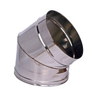 CURVA 45° M/F PERCANNE FUMARIE DIAMETRI mm 80/100/120/130/150/200/250