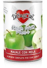 Disugual fresh fruit maiale e mela