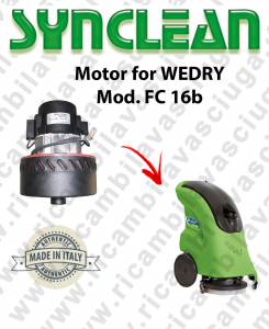 FC 16b Vacuum motor SYN for scrubber dryer WEDRY