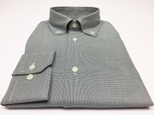 Camicia uomo 100% cotone, slim fit, collo botton down, armatura GRIGIO ANTRACITE