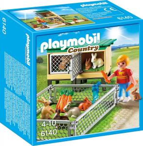 PLAYMOBIL RECINTO DEI CONIGLI CON GABBIA COPERTA cod. 6140