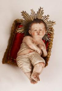 Bambinello in terracotta artigianato napoletano Paolo Fattore 18 cm