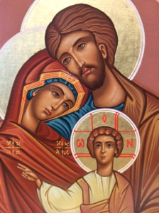 "Icona bulgara dipinta ""Sacra Famiglia"""
