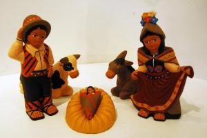 Presepe artigianato boliviano 16 cm