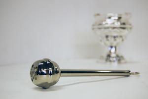 Aspersorio in ottone nichelato 19 cm