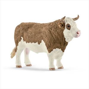 SCHLEICH FARM LIFE ANIMALI DELLA FATTORIA TORO PEZZATO ROSSO 13800