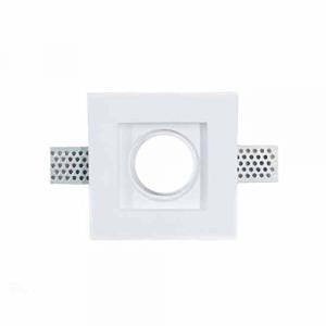 Porta Faretto FISSO in GESSO da Incasso per Lampadine LED Portafaretto GU10