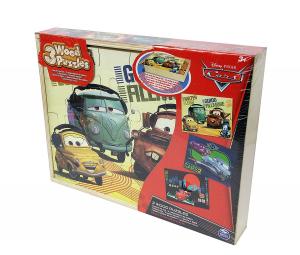 EDITRICE GIOCHI 3 PUZZLE IN LEGNO DISNEY CARS 6033125