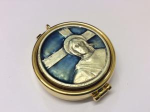 Teca eucaristica con disegno smaltato CAL1803