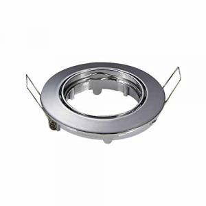 Portafaretto incasso alluminio rotondo Cromato regolabile