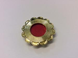 Teca reliquiario in metallo dorata EFGC04D