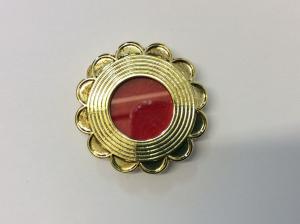 Teca reliquiario in metallo dorata GC04D