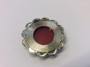 Teca reliquiario in metallo argentata EFGC03A