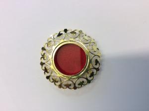 Teca reliquiario in metallo dorata GC02D