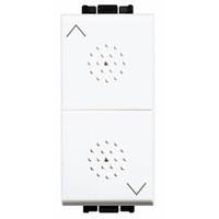 Pulsante bianco - doppio interbloccato BTicino N4037 Living Light