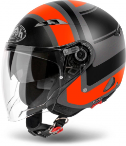 CASCO MOTO AIROH JET CITY ONE WRAP ORANGE MATT COWR32