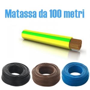 CAVO ELETTRICO UNIPOLARE N07V-K CAVO 1x4  mm² ISOLATO CON PVC - 1 MATASSA DA 100 METRI
