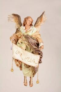 Angelo presepe siciliano Angela Tripi 30 cm stoffa e terracotta