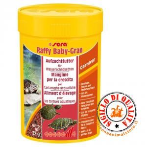 Sera Raffy Baby-Gran mangime per Tartarughe acquatiche giovani 100 ml.