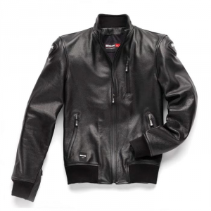 BLAUER INDIRECT Motorcycle Leather Jacket - Black