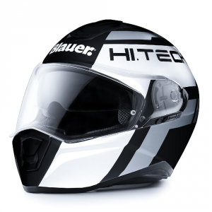 BLAUER FORCE ONE 800 Full Face Helmet - Matt Black - White and Grey Anthracite