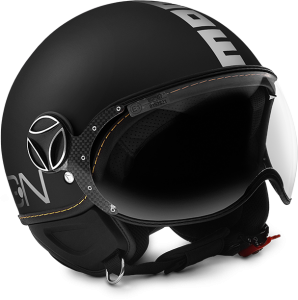 MOMO DESIGN FIGHTER EVO Casco Jet - Nero Opaco