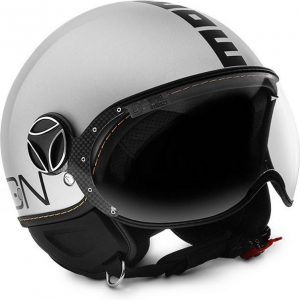 MOMO DESIGN FIGHTER EVO Casco Jet - Bianco Quarzo