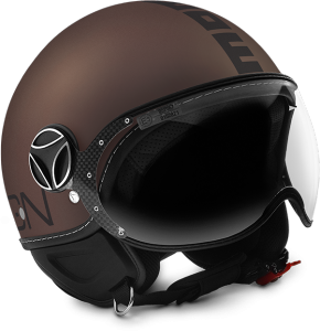 MOMO DESIGN FIGHTER EVO TABACCO Casco Jet - Marrone