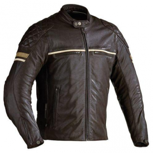 IXON MOTORS Motorcycle Leather Jacket - Brown