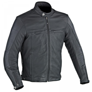 IXON COPPER SLICK Motorcycle Leather Jacket - Black