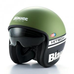 BLAUER PILOT 1.1 Jet Helmet - Matt Green and Black