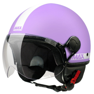 Casco jet Max Power Ciclamino opaco