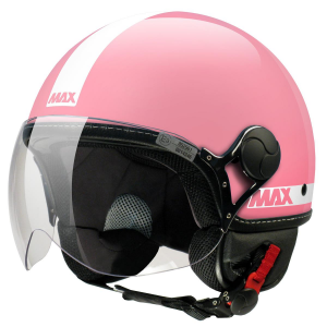 Casco jet Max Power Rosa
