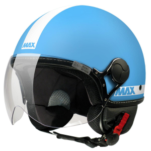 Casco jet Max Power Turchese opaco