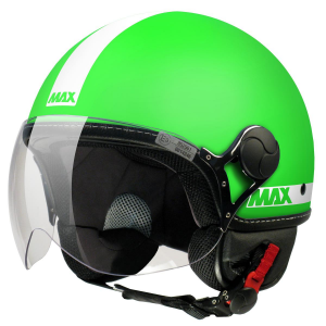 Casco jet Max Power Verde opaco