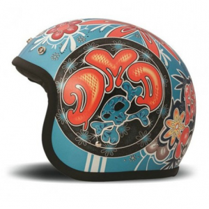 DMD VINTAGE FLOWER POWER Jet Helmet - Multicolor