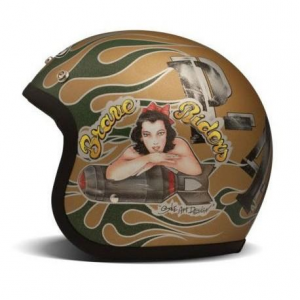 DMD VINTAGE P40 Jet Helmet - Brown