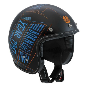 AGV CITY RP-60 Multi Blackboard - Jet Helmet - Black and Blue