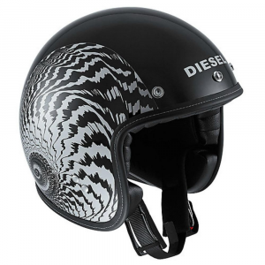 DIESEL OLD JACK MULTI OJ2 Jet Helmet - Matt Black and Silver