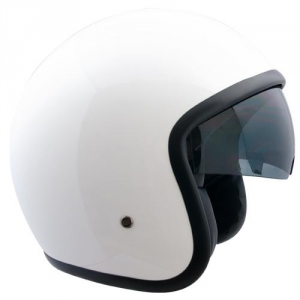 CGM 133A VINTAGE Jet Helmet - Metallic White