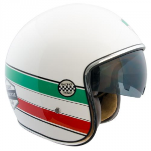 CGM 133I VINTAGE ITALIA Jet Helmet - Green - White and Red