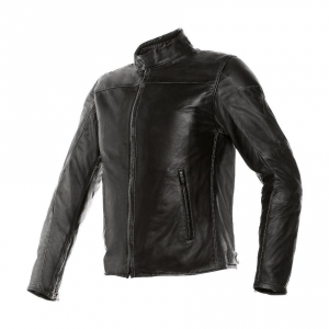 DAINESE MIKE Motorcycle Leather Jacket - Black