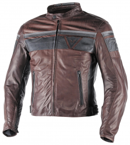 DAINESE BLACKJACK Motorcycle Leather Jacket - Brown and Black