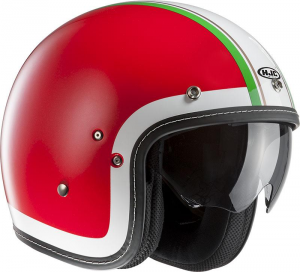 HJC FG 70S HERITAGE MC1 Jet Helmet - Red - White and Green