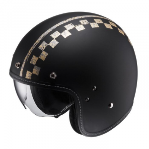 HJC FG 70S BURNOUT MC5F Jet Helmet - Black and Beige