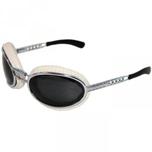 BARUFFALDI SFERICUM PAD Motorcycle Goggles - White Rigato