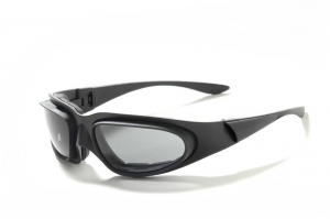 BARUFFALDI WINDTINI PLUS Motorcycle Goggles - Black