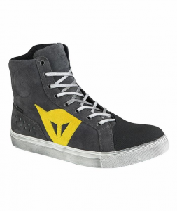 DAINESE STREET BIKER D-WP Man Shoes - Anthracite Grey and Yellow
